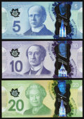 Canadian Currency, BC-69 $5 2013;. BC-70 $10 2013;. BC-71 $20 2012.. ... (Total: 3notes)