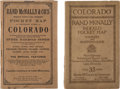 Books:Maps & Atlases, Rand McNally Maps (2) of Colorado.... (Total: 2 Items)