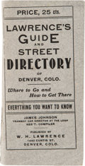 Books:Maps & Atlases, Lawrence's Guide and Street Directory of Denver Colorado with Map....