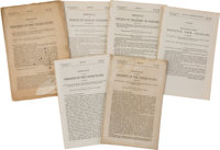 Admission of Colorado into the Union, Six Printings: