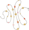 Estate Jewelry:Necklaces, Black Diamond, Conch Pearl, Keshi Pearl, White Gold Necklace . ...