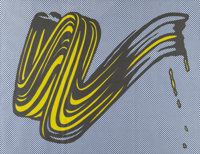 After Roy Lichtenstein Brushstroke (Castelli mailer), 1965 Offset lithograph in colors on paper
