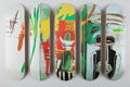 Fine Art - Work on Paper:Print, After Jean-Michel Basquiat X The Skateroom. Untitled, set offive skate decks (Open Edition), 2016. Screenprints in colo...(Total: 5 Items)