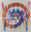 Prints & Multiples, Yaacov Agam (b. 1928). Arches. Agamograph. 12 x 12 inches (30.5 x 30.5 cm) (image). Ed. 32/99. Signed and numbered in in...