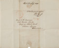 Autographs:Military Figures, [Mexican War]. Truman Cross Letter Signed ...