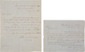 Autographs:Military Figures, Irvin McDowell, Two Documents Signed During Mexican War.... (Total: 2 )
