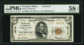 National Bank Notes:Maine, Portland, ME - $5 1929 Ty. 2 NB of Commerce Ch. # 13710. ...