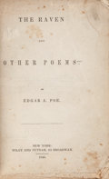 Books:Literature Pre-1900, Edgar A[llan]. Poe. The Raven. And Other Poems. NewYork: Wiley and Putnam, 1845. First edition in book form....