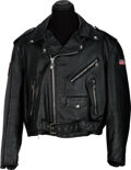 Music Memorabilia:Autographs and Signed Items, Rolling Stones 'Steel Wheels' Black Leather Jacket, Signed...