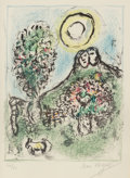 Prints & Multiples, Marc Chagall (1887-1985). Le Baou de St-Jeannet II, 1969. Lithograph in colors on Arches paper, with full margins. 13 x ...