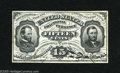Fractional Currency:Third Issue, Fr. 1272SP 15¢ Third Issue Glued Pair Choice About New. A printed signature Grant-Sherman Face has been glued to a Green Bac...