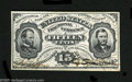 Fractional Currency:Third Issue, Fr. 1274SP 15¢ Third Issue Glued Pair About New. A Jeffries-Spinner signed Face has been glued to a Red Back. The margins ar...