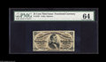 Fractional Currency:Third Issue, Fr. 1291 25¢ Third Issue PMG Choice Uncirculated 64. The original embossing is evident on this brightly colored Red Back Fes...