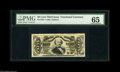 Fractional Currency:Third Issue, Fr. 1325 50¢ Third Issue Spinner PMG Gem Uncirculated 65. This 1325 has the plate impression and associated mild press- bed ...