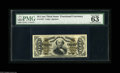 """Fractional Currency:Third Issue, Fr. 1327 50¢ Third Issue Spinner PMG Choice Uncirculated 63. There are three comments """"great margins, vivid details, the not..."""