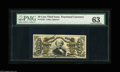 Fractional Currency:Third Issue, Fr. 1328 50¢ Third Issue Spinner PMG Choice Uncirculated 63. Apparently down-graded to 63 for the paper clip mark as the not...