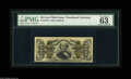 "Fractional Currency:Third Issue, Fr. 1334 50¢ Third Issue Spinner PMG Choice Uncirculated 63. PMG has commented, ""nice margins,"" which certainly is the case!..."