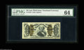 Fractional Currency:Third Issue, Fr. 1340 50¢ Third Issue Spinner Type II PMG Choice Uncirculated 64. Apparently downgraded for a tiny pinhole in the top mar...