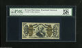 "Fractional Currency:Third Issue, Fr. 1340 50¢ Third Issue Spinner Type II PMG Choice About Uncirculated 58. PMG comments ""vivid details"" for this rarest of t..."