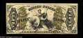 Fractional Currency:Third Issue, Fr. 1357 50c Third Issue Justice About New. Better than average margins for this tough red back fiber paper type. The note i...
