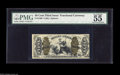 Fractional Currency:Third Issue, Fr. 1369 50c Third Issue Justice PMG About Uncirculated 55. A much scarcer number that has three exceptional margins for a J...