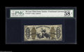 Fractional Currency:Third Issue, Fr. 1373 50¢ Third Issue Justice PMG Net Choice About Uncirculated 58. Very tightly margined all the way around, and PMG com...
