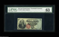 Fr. 1376 50¢ Fourth Issue Stanton PMG Choice Uncirculated 63. A handsome Stanton, with bold color