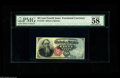 """Fr. 1376 50¢ Fourth Issue Stanton PMG Choice About Uncirculated 58. PMG comments """"great colors,"""" and &quo..."""