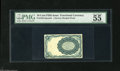 Fractional Currency:Fifth Issue, Milton 5E10R.2 10¢ Fifth Issue PMG About Uncirculated 55.Dismounted from its card, as is always the case with these. There...