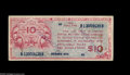 """Military Payment Certificates:Series 471, Series 471 $10 Counterfeit Fine. Counterfeit MPC is almost never seen, and this nice early Ten, which is lightly stamped """"CO..."""