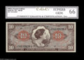 Military Payment Certificates:Series 641, Series 641 $10 CGC Superb Gem 66. This attractive third printing$10 has been removed from its CGC holder, but the CGC label...