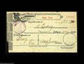 Miscellaneous:Postal Currency, Sealy, Texas Early Postal Money Order An early Postal Money Orderdated on January 25, 1900 in the amount of 1¢. Likely obt...