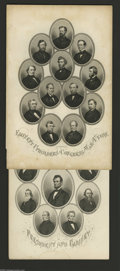 Miscellaneous:Other, Lincoln's Cabinet, Etc. Here are two approximately 6 by 9 inchportrait cards of Lincoln's first cabinet and distinguished m... (2notes)
