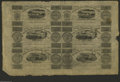 Canadian Currency: , Montreal, LC- Champlain & St. Lawrence Rail Road 7 1/2d-71/2d-15d-15d-2s.6d-2s.6d Aug. 1, 1837 Uncut Sheet This is aninte...