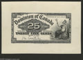 Canadian Currency: , 25¢ Proofs of 1900. DC-15a 25¢ Face Printed on Card Stock 1900Choice AU DC-15a 25¢ Green Tint Face Mounted on Card Stock ... (3notes)