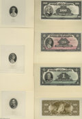 Canadian Currency: , English Issue of 1935 Proofs Choice Crisp Uncirculated. This lotconsists of separate face and back proofs on card stock of... (22items)