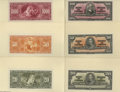 Canadian Currency: , 1937 Bilingual Proofs Choice Crisp Uncirculated. This lot consistsof separate face and back proofs on card stock of the ne... (14items)