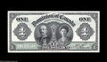 Canadian Currency: , DC-18 $1 1911 Front & Back Proofs A two piece set of front andback Proofs for the $1 1911 issue. The face Proof grades A... (2notes)