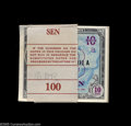 World Currency: , Japan Supplemental B Ten Sen Original Pack of 100 Schwan-Boling 261This pack has a few notes at the beginning and end show... (100notes)