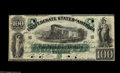 Confederate Notes:1861 Issues, T5 $100 1861. A bright and quite attractive example of this scarce note save for the six POC present here, two on the top an...