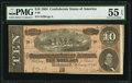 Confederate Notes:1864 Issues, T68 $10 1864 PF-44 Cr. 552.. ...