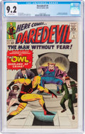 Silver Age (1956-1969):Superhero, Daredevil #3 (Marvel, 1964) CGC NM- 9.2 Off-white pages....