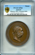 Austria, Austria: Vienna World Exhibition bronze Specimen Medal 1873 SP66PCGS,...