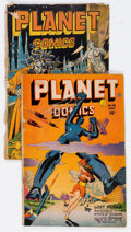 Golden Age (1938-1955):Science Fiction, Planet Comics #41 and 48 Group (Fiction House, 1946-47) Condition:Average FR.... (Total: 2 Comic Books)