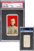 Baseball Cards:Singles (Pre-1930), 1909-11 T206 Ty Cobb Portrait Red Background with Ty Cobb Back(Lucky 7 Find) PSA VG+ 3.5....