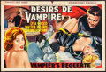 """Movie Posters:Horror, The Playgirls and the Vampire (Century, 1963). Folded, Fine/Very Fine. Horizontal Belgian (13"""" X 19.75""""). Horror.. ..."""