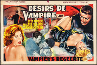 "The Playgirls and the Vampire (Century, 1963). Folded, Fine/Very Fine. Horizontal Belgian (13"" X 19.75""). Horr..."