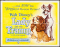 """Movie Posters:Animation, Lady and the Tramp (Buena Vista, 1955). Half Sheet (22"""" X 28""""). Animation.. ..."""