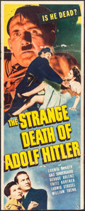 """Movie Posters:War, The Strange Death of Adolf Hitler (Universal, 1943). Trimmed Insert(14"""" X 35"""") & Lobby Cards (2) (11"""" X 14""""). War.. ... (Total: 3Items)"""