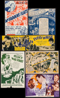 """Movie Posters:Comedy, Local Boy Makes Good & Other Lot (First National, 1931).Folded, Very Fine-. Heralds (6) (7"""" X 7"""" - 13.75"""" X 4""""). Comedy..... (Total: 6 Items)"""
